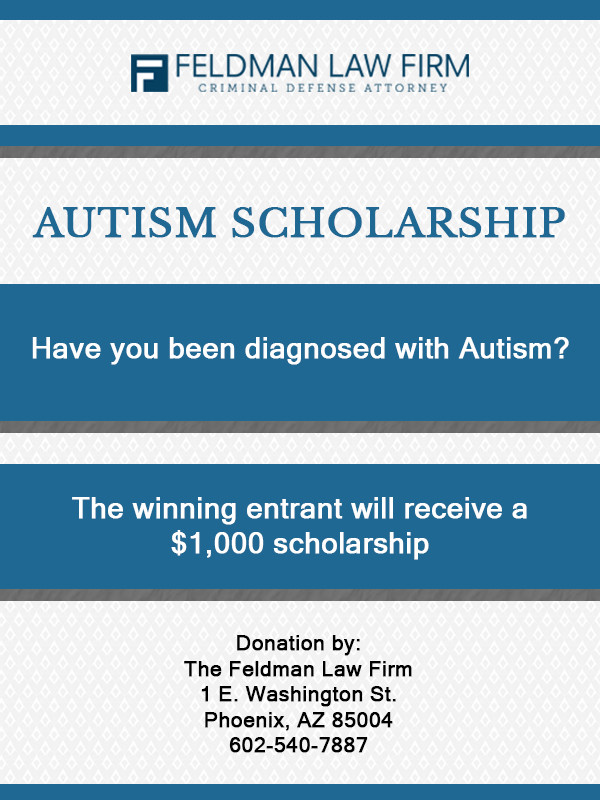 2017 Autism scholarship flyer